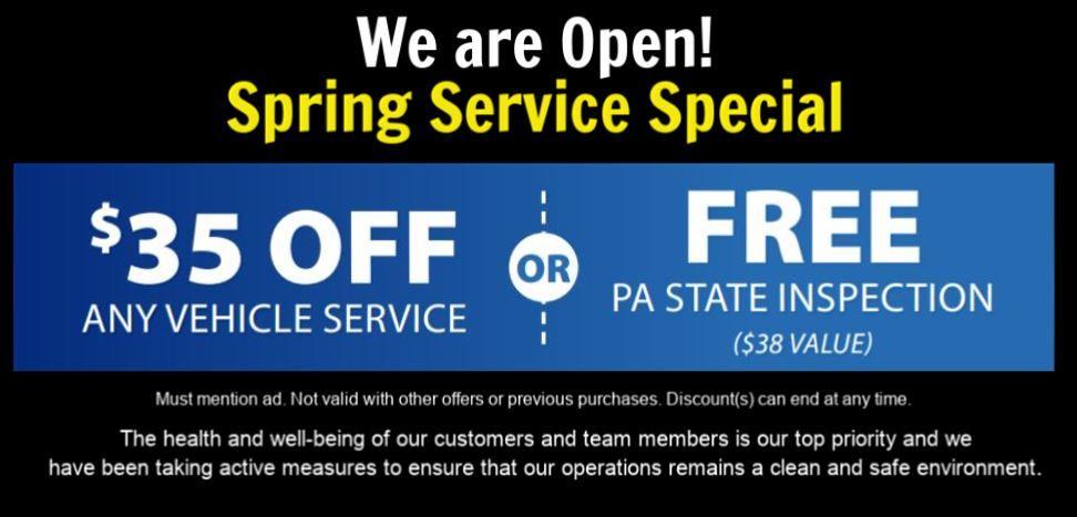 Spring Service Specials